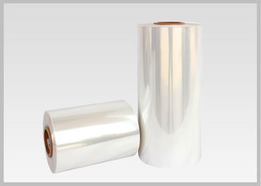 China Water Soluble PVC Shrink Film Rolls High Shrinkage Ratio For Full Body Sleeves supplier