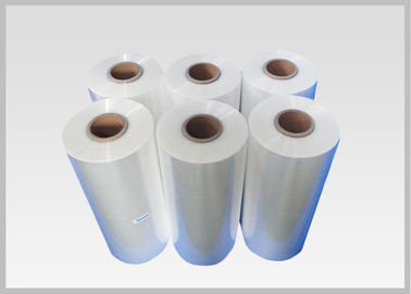 China Blown Transparent PVC Heat Shrink Sleeve Film Rolls For Glass Bottle Labels supplier