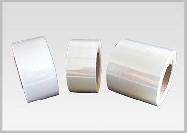 China 45mic Crystal Clear Label Grade PVC Shrink Film Rolls For Printing Sleeve supplier