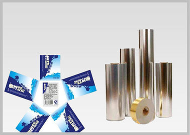 China Vacuum Metallic Foil Paper Single Sided Coating , Easy To Wash Away From Bottles For Glass Bottle labels supplier
