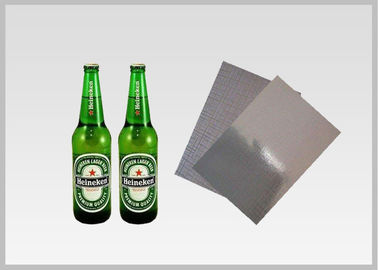 China Washable Silver Metallic Paper With Laser Holographic  Wood Pulp Material Beer Bottle Label in 70gsm supplier