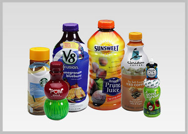 China PET Drink Bottle Labels , Recyclable Heat Shrink Wrapping Film For Packaging 30mic To 50mic Thickness distributor