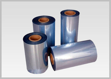 China 53% Shrinkage 45mic Shrink PVC Labels Film Rolls For Heat Shrinkable Bands distributor