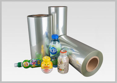 China 45 Micron PETG Shrink Film Heat Shrinkable Film For Bottle Label , Shrink Sleeves factory