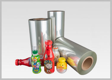 China SGS Transparent PETG Shrink Plastic Film Roll For Plastic Bottle Packaging In Stock factory