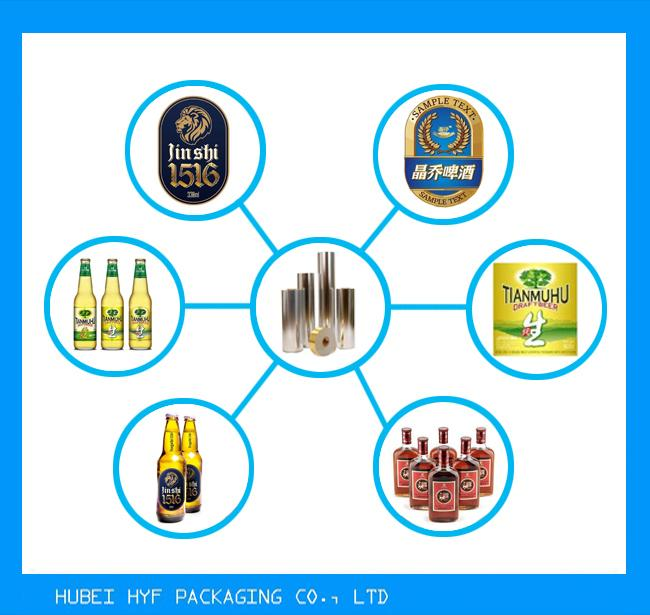 71gsm Colorful Strength Vacuum Metallized Paper For Beer Label Printing Wet Strength Wine Label