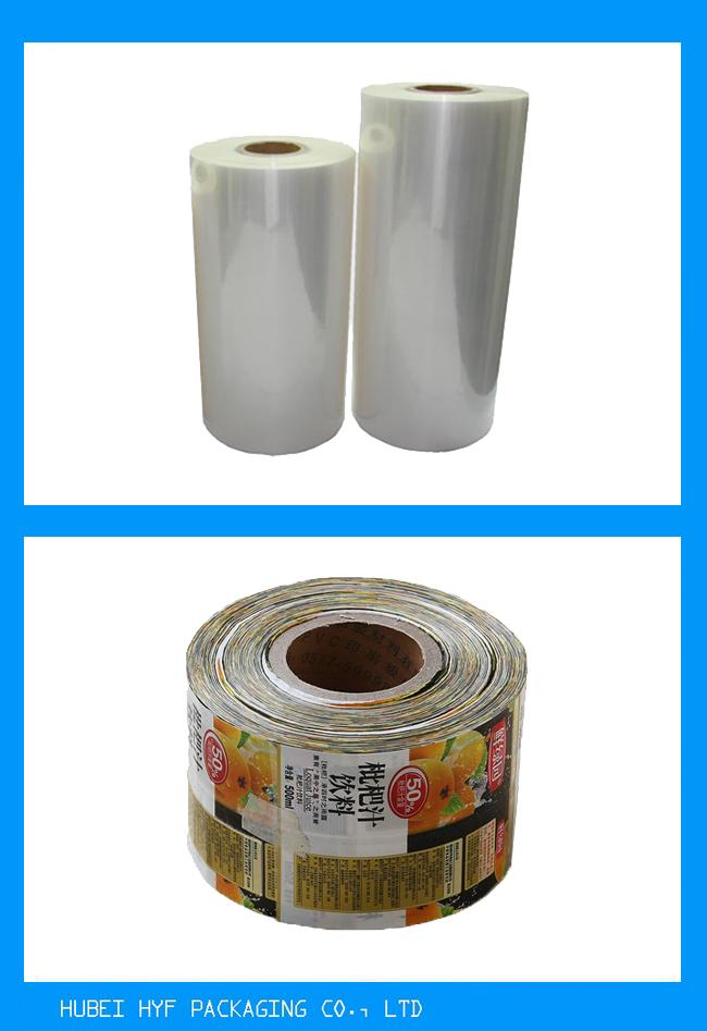 Multicolor Printing Drink Bottle Labels , Washable Pvc Heat Shrink Sleeve Labels In Thickness 30mic