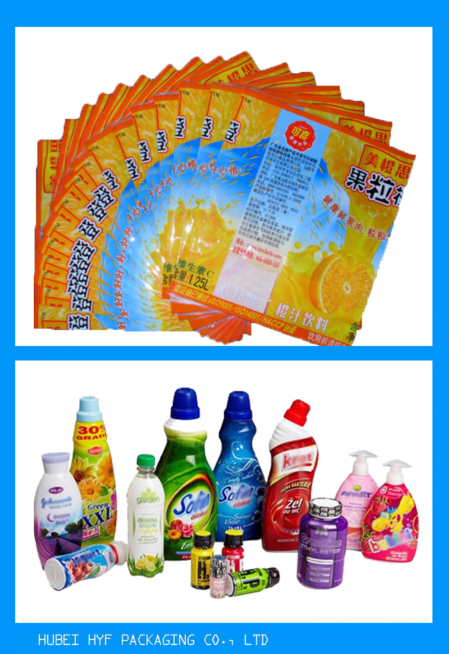 PET Drink Bottle Labels , Recyclable Heat Shrink Wrapping Film For Packaging 30mic To 50mic Thickness