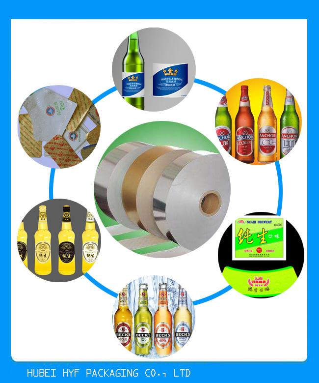 High Wet Strength Vacuum Metalized Film Paper Rolls With Great Dimensional Stability In Thickness 68g 69g 70g 72g 80g