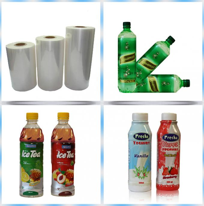 45mic Crystal Clear Label Grade PVC Shrink Film Rolls For Printing Sleeve