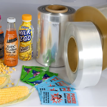 Bio - Based 50 Mic PLA Shrink Film Rolls TDO For Shrink Sleeve , Eco Friendly